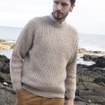 FISHERMAN RIB CREW NECK SWEATER C761