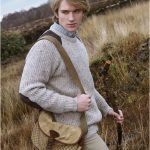 FISHERMAN SWEATER WITH PATCHES CP761 OATMEAL
