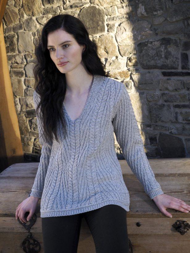 Nua Super Soft  V neck ribbed Sweater N109