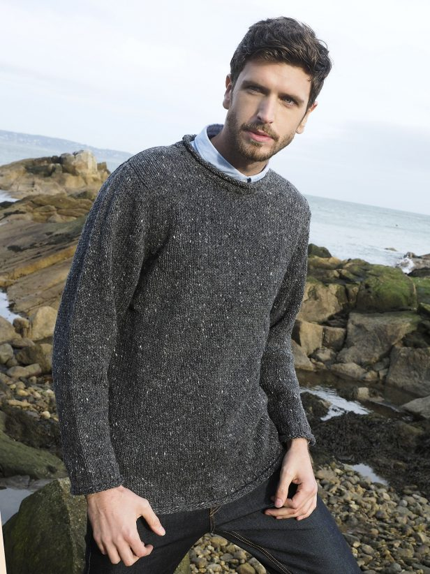 DONEGAL CURL NECK SWEATER K4594
