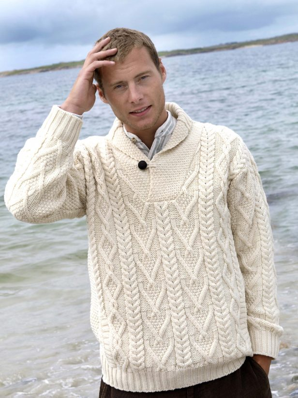SHAWL COLLAR MEN'S SWEATER SH4177