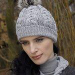 Cable Knit Pom Pom Hat X4844