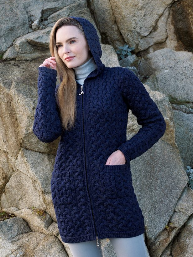 Ulster Chunky Long Coat HD5037 Midnight
