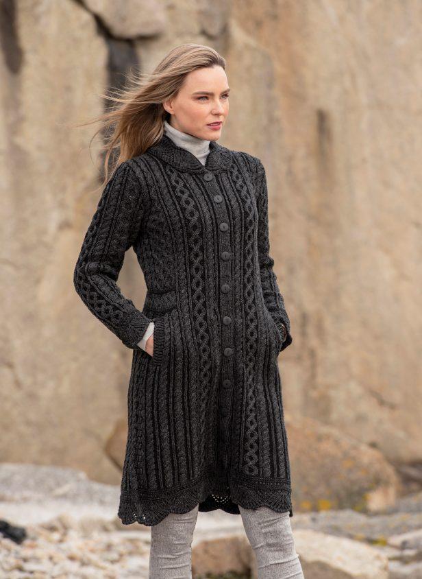 Leitrim Long Button Coat X4791