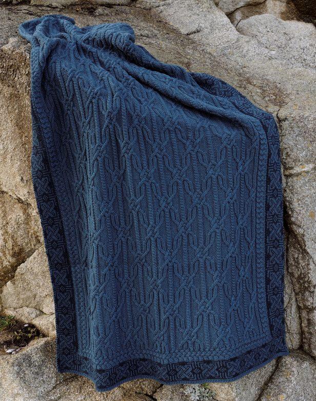 Jacquard Blanket Teal